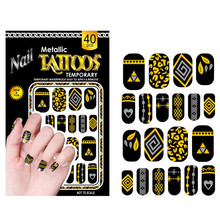 wholesale new arrival gold blocking water Nail care polish wrap patch 40pcs/pack Nail Art foil sticker 500pack/lot free shipping