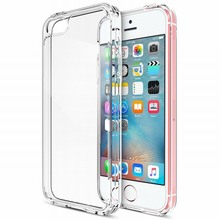 Portefeuille For Coque iPhone SE Case Clear Cushion Protective Bumper For Apple iPhone SE 2016 5S 5 S Cover Hard Back Panel New