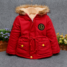 2017 children outerwear baby girls cotton Hooded coats Winter Jacket  children's winter clothing Girls and boys  Down & Parkas