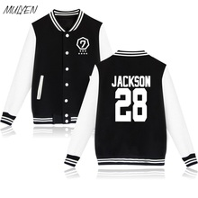 MULYEN Kpop GOT7 Jackson Mark JB JR Fans Supportive Hoodies Women Harajuku Baseball Uniform Sweatshirt Moletom Feminino