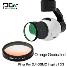 PGYTECH OSMO inspire1 X3 Gimbal Camera Orange graduated filter Lens accessories UAV drone accessories