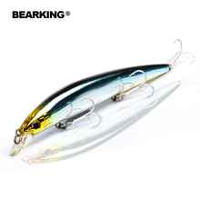 Retail Bearking professional fishing tackle ,Only for promotion fishing lures,Bear king 128mm 14.8g,Minnow bait. hot model,(China)