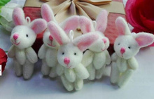 1Piece Mini 4CM Joint Long EAR Rabbit Plush Stuffed TOY DOLL , Kid's Candy BOX TOY DOLL ; Garment , Hair Accessories TOY DOLL