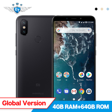 Xiaomi Mi A2 4GB 64GB Global Version Mobile Phone 5.99'' Full Screen Snapdragon 660 20MP 12MP AI Dual Camera Android One CE FCC