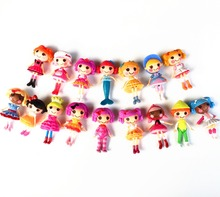 1pc single Sale 16 different 8cm MGA mini Lalaloopsy Doll the bulk button eyes toys for girl classic toys Brinquedos