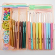 18 pieces Crochet Hook Set Weave Craft Yarn sewing accessories tool box cross stitch tools needle needlework for sweater t6(China)
