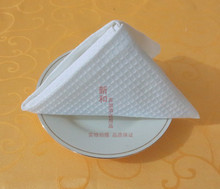 100 PCS White 100% Cotton Thick Waffle Dining Napkins Table Linen HIGH QUALITY Cloth Napkins Poly Cotton Hotel Wedding(China)