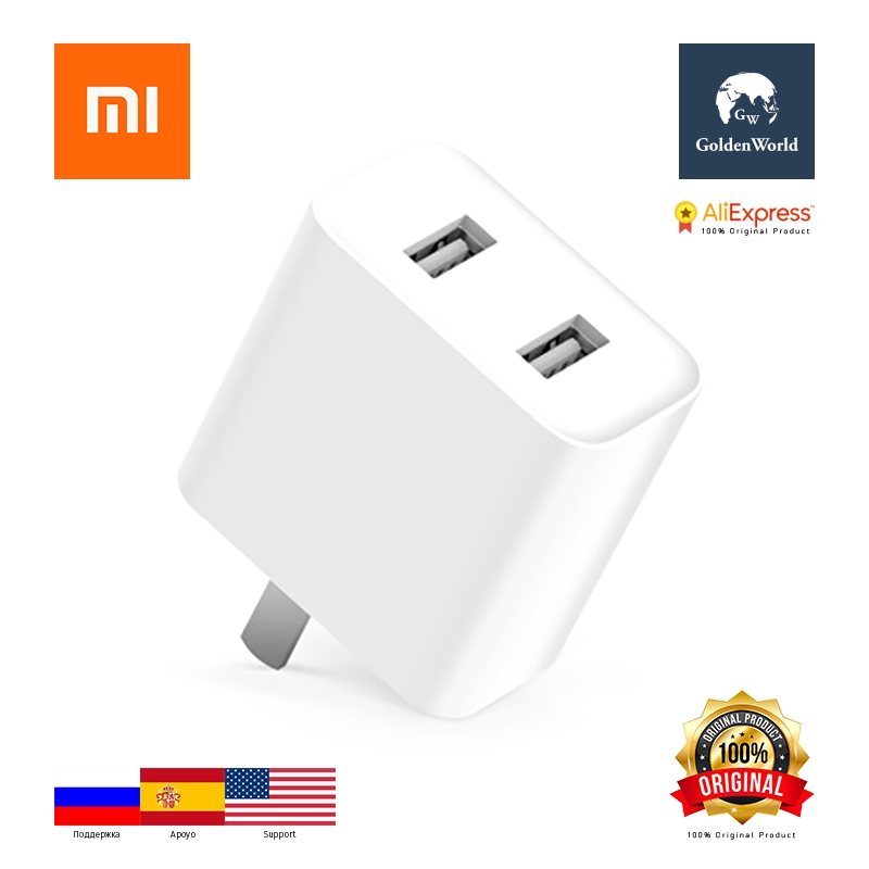 Xiaomi Original Mi Power Adapter Dual 2 USB QC 3.0 Quick Charge Wall Charger DC 5.0V / 3.6A 18W MAX Single-port output DC 5.0V