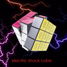 Fancy elctric shock cube Electric Shock Toy Gift for fun Joke Prank Trick Funny Gags & Practical Jokes toys for adults Scary toy(China)