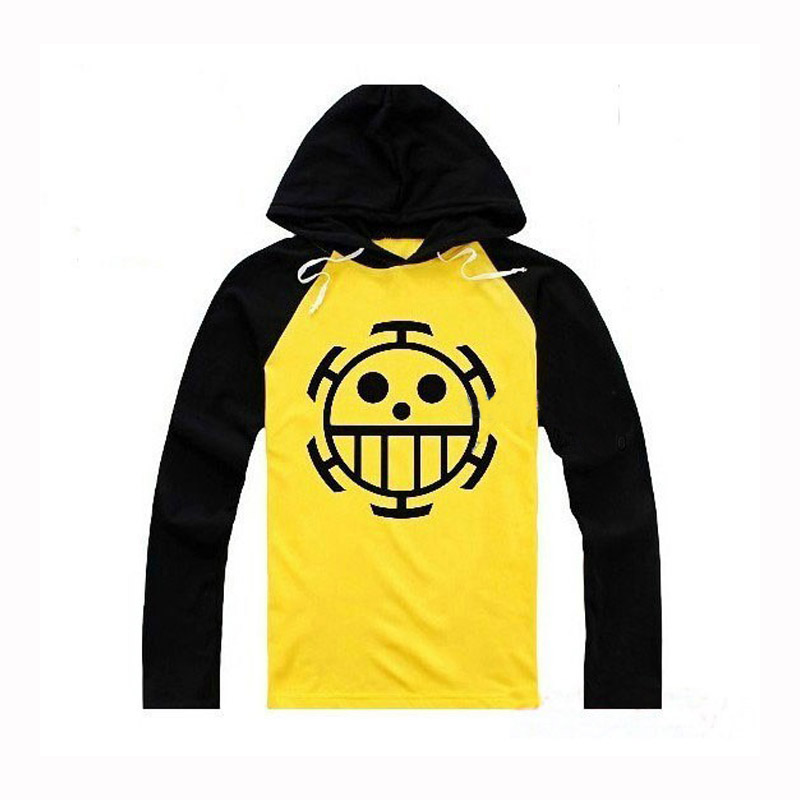 Anime Cosplay One Piece Costume Trafalgar Law Hoodies Masquerade Clothes Top for Man Women Long Sleeve Plus Size 3