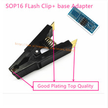 Programmer Testing sop16 Clip soic16 clip IC Test clip without cable + SOP8 SOP16-DIP8 Adapter. sop16 adapter(China)