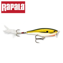 Rapala Brand Skitter Pop SP07 7cm 7g Top Water Popper Fishing Lure Hard Bait Artificial Freshwater Lure with Feather(China)