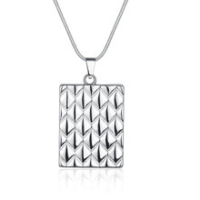 Free Shipping New 2015 silver plated women necklace Solar Panels maxi necklace charms(China)