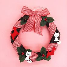 Christmas Wreath home Decorations Christmas Trees Ornament Christmas Door Hanging Holiday Knocker Santa Claus Snowman gift
