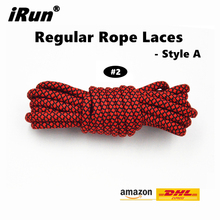 iRun Extra Long Round Shoestring Shoelaces Shoe Laces Ropes Boots Accept Custom Lengths - 22 colors Style A - DHL FREE SHIPPING(China)