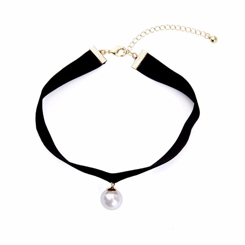 HTB18mIqOFXXXXXYXpXXq6xXFXXXd - KISS ME New Popular Black Chokers Round Simulated Pearls Choker Necklace 2017 Fashion Jewelry Women Bijoux