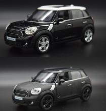Candice guo alloy car model mini cooper matt black color style vehicle motor pull back baby birthday gift christmas present 1pc