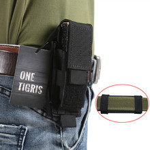 OneTigris Tactical MOLLE Folding Knife Belt Sheath EDC Tool Pouch Single Sheath Pistol Mag Pouch Flashlight Cover