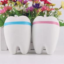 1PCS/lot 11cm Adorable Teeth Squishy Soft Pu Slow Rising Original Package Phone Strap Squeeze Toy Smile Tooth Cartoon Doll