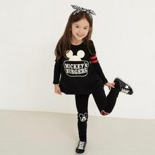 Baby Girls Clothing Sets Cartoon Minnie Casual Tracksuits Kids Clothes South Korea Fashion Sports Suit Leggings Pants 2 pcs set(China)