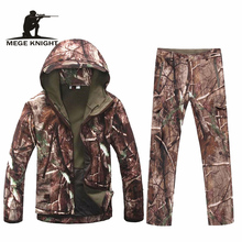 Winter thermal fleece camouflage tactical military uniform multicam, airsoft paintball equipment military uniform(China)