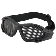 16x5cm Outdoor Durable PVC Eye Protective Safety Tactical Metal Mesh Glasses Goggle Shooting Skiing Ride Hunting Military Glass