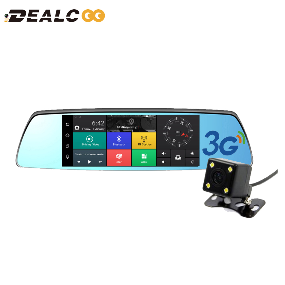 Dealcoo New 3G 7 inch Car GPS Navigation Bluetooth Android 5.0 Navigators Automobile with DVR Car sat nav Mirror rearview camera(China (Mainland))
