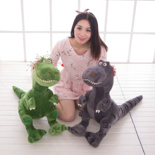 28*25cm Creative Dinosaurs Plush Toys Dinosaur Cloth Doll Gray Doll Neck Pillow Cushion Stuffed Plush Baby Gift(China)