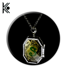 Slytherin Locket Horcrux Kit Necklaces & Pendants 2016 New Rhinestone Pendant Necklace For Women and Men