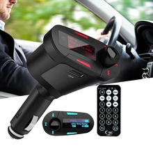 360 Degree Rotation Red Car MP3 FM Radio Transmitter USB SD TF Music Player Supports SD / MMC Card With Remote Control