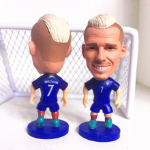 Soccerwe Fixed Base France 7 Griezmann Doll 2017 Blue Kit Gift(China)