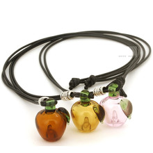 NEW Fashion jewelry Apple Perfume bottles essential oil bottle necklace Creative National wind Women Necklace Free shipping(China)