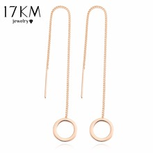 Buy 17KM Vintage Punk Silver Color Long Tassel Dangle Earrings Women Gold Color Alloy Round Drop Bar Statement Jewelry for $1.64 in AliExpress store