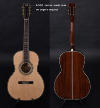 OEM custom guitar, OOO body shape, Acoustic Guitar,solid Spruce top, Free Shipping