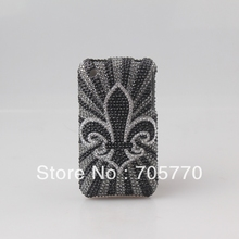 Free Shipping  Bling Printing Full Diamond Crystal Cell Phone Case Covers for iphone 3GS