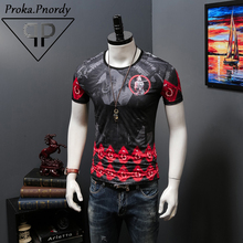 Proka Pnordy Tide Brand Clothing Men 2017 Fashion Buddha Statues Skeleton General Devil Soul Hip Hop T Shirts Short Sleeve Tees