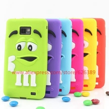 New Product M&M's Chocolate Candy Silicone Soft Back Cover Case For Samsung Galaxy S2 i9100(China)