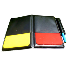 Referee Cards Red Yellow Football /Soccer Sports Wallet Notebook Set New(China)