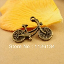 NEW 2014 , Ancient cyan jewelry A1023 wholesale 1.7 g retro small Surface bicycle pendant accessories 25*19 MM DIY ornaments