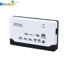 Binmer Factory Price USB 2.0 Card Reader for SD XD MMC MS CF SDHC TF Micro SD M2 Adapter WH 60310 mosunx Drop Shipping