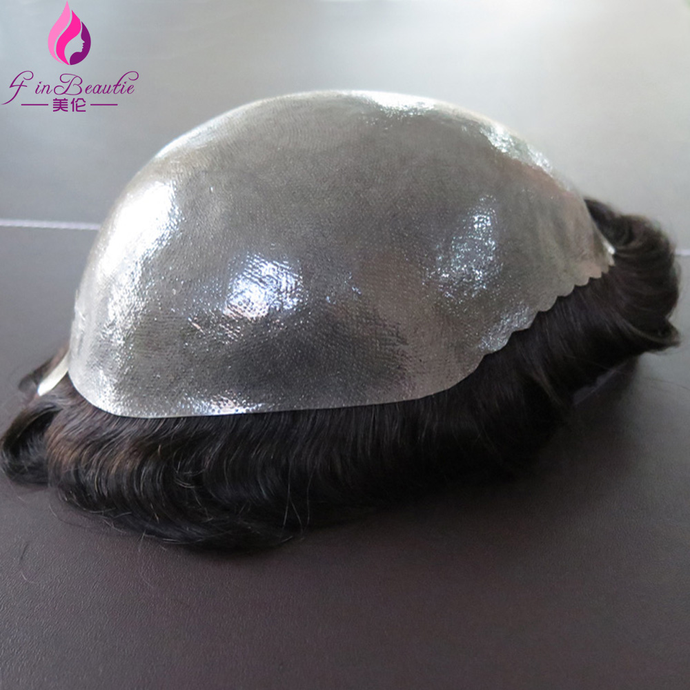 4 In Beautie Super Durable Thin Skin toupee, Silicone Base Men hair Wig, Hair Prosthesis<br><br>Aliexpress