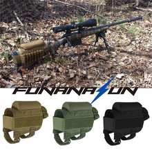 Hunting Shotgun Buttstock Cheek Rest Rifle Stock Tactical Ammo Shell Magazine Molle Pouch Adjustable Holder Bag