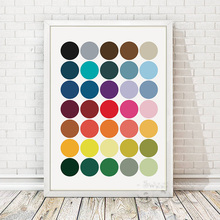 Colorful Dot Canvas Art Painting Poster, Wall Pictures For Room Home Decoration, Wall Art FA108(China)