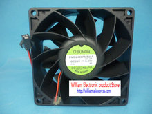 Original SUNON PMD2409PMB3-A 9038 24V 6.0W 9cm 2 line inverter Cooling fan(China)