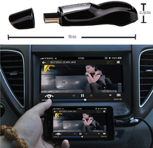 Link Smart Phone To Car Screen Or Home Video with HDMI Port by WIFI Support Android & IOS Airplay mirroring GPS TV Music