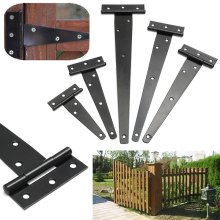 Black Iron Tee Hinge t hinges Cabinet Shed Door Garden Wooden Gate 4''/6''/8''/10''/12'' for Light Gates & Doors Black Furniture