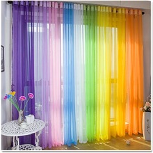 Free shipping voile sheer curtain panel window treatments