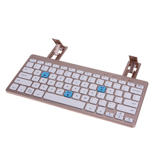 Portable 10 Meter Distance Mini Keyboard Metal Ultra Thin Wireless Bluetooth 3.0 Portable Keyboard with Cellphone Holder(China)
