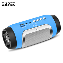 ZAPET C-65 Bluetooth Speaker Mini Portable Wireless Speaker Stereo Support TF Card FM Hand-free Calls Outdoor Home Party Altavoz