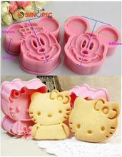 4X Minnie Mickey Mouse Hello Kitty Cookie Cutter Fondant Cake Sugarcraft Sushi Cartoon Mold